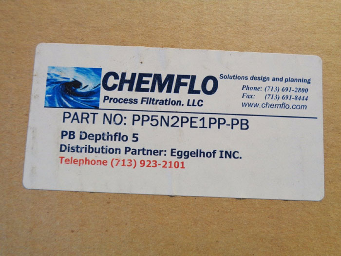 LOT OF (4) CHEMFLO PLEATED FILTER # PP5N2PE1PP-PB