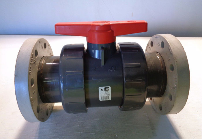 "SPEARS 4"" IPS PVC FLANGED BALL VALVE 3623-040"