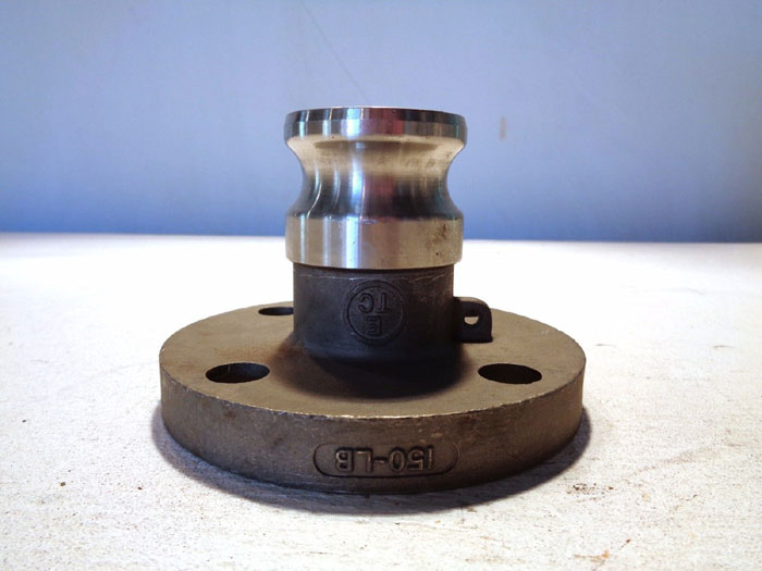 """CAM & GROOVE 1-1/2"""" 150# 316 STAINLESS STEEL FLANGE FITTING"""