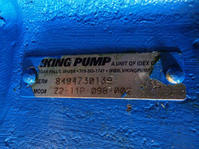 VIKING ROTARY PUMP Z2-11P-098-002 W/ JOHN CRANE 8B1 SEAL ASSEMBLY B89491