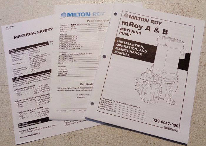 LMI MILTON ROY A & B METERING PUMP RT1177FRSESEM1NN W/ LEESON MOTOR