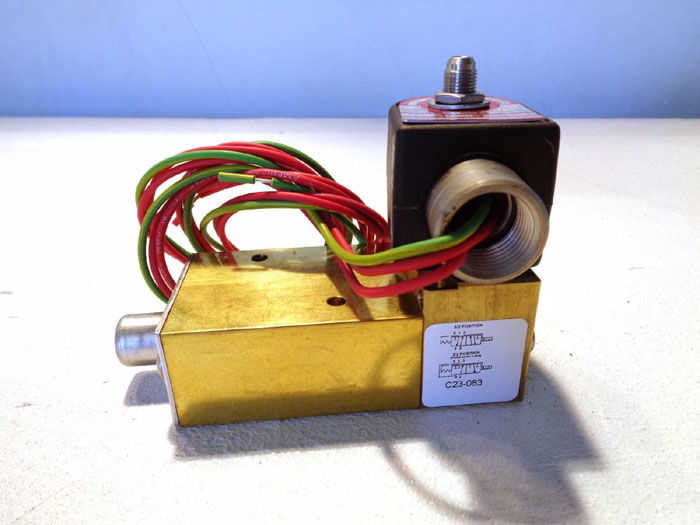 LOT OF (2) PARKER 3-WAY SOLENOID VALVE # 73417BKEPN00N0HZ03C2