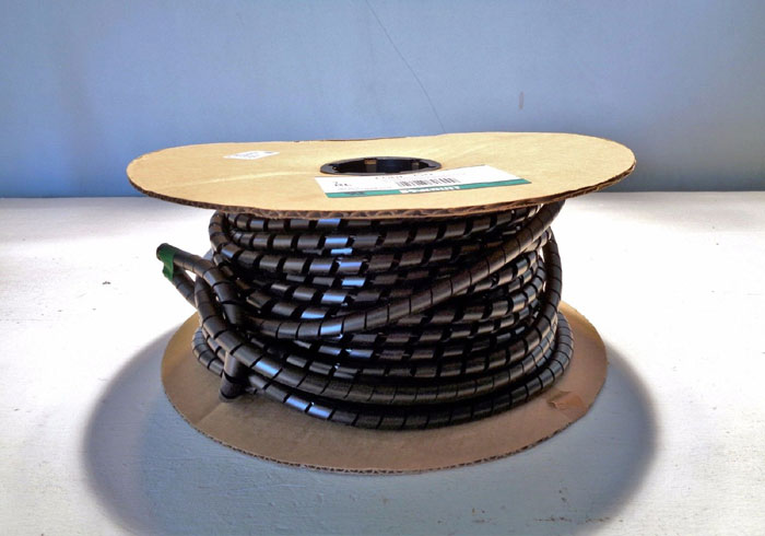 "PANDUIT BLACK CABLE WIRE WRAP .50"" X 100' SPOOL #T50F-C0"