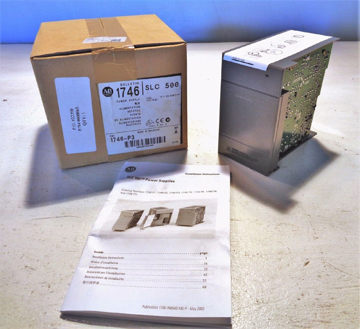 ALLEN BRADLEY SLC500 POWER SUPPLY #1746-P3