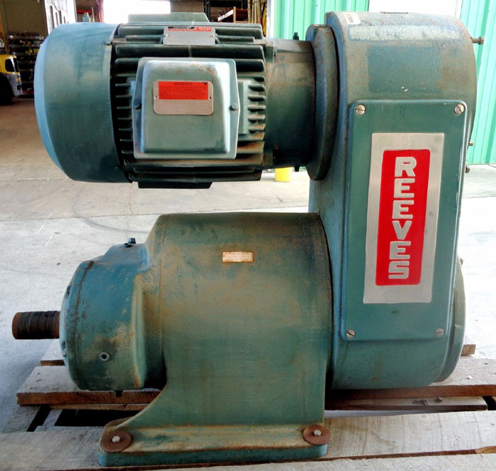 RELIANCE ELECTRIC REEVES MOTO DRIVE, ID#: R373449-001-YX R373449001