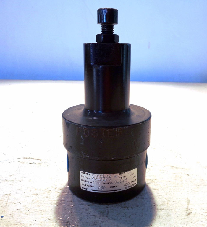FOSTER AIR VALVE MODEL#: PR00107T-CS