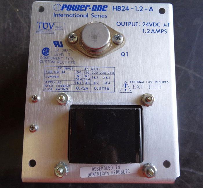 LOT OF (5) POWER-ONE POWER SUPPLIES HB24-1.2A HC24-2.4-A HBB15-1.5-A HN5-9/OVP-A