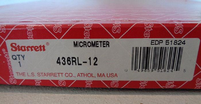 STARRETT MICROMETER #436RL-12