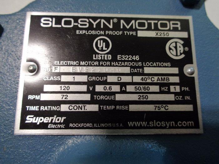 ELDEX LABORATORIES 1472 PUMP B-72-EXP W/ SLO-SYN MOTOR X250, #BV921040
