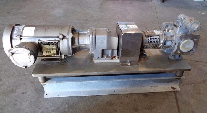 NORD DRIVE SYSTEMS SPX FLOW TOPGEAR JOHNSON INTERNAL GEAR PUMP W/ BALDOR MOTOR