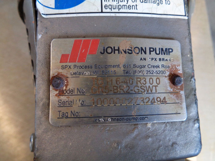 NORD SPX FLOW TOPGEAR JOHNSON INTERNAL GEAR PUMP W/ BALDOR MOTOR