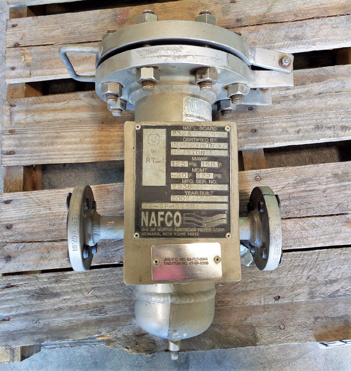"NAFCO 42010-F04B/316SS AIR GAS COALESCING PRESSURE FILTER 1"" 300#, PART#: 13048"