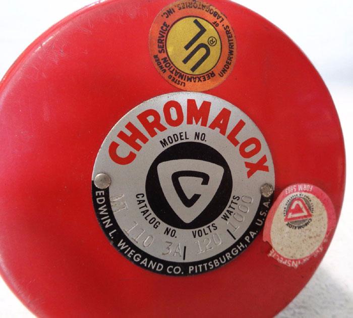 "CHROMALOX MT-110-3A 1-1/4"" SCREW PLUG IMMERSION HEATER 120V, 1,000W #139387"