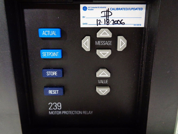 GE MULTILIN 239 MOTOR PROTECTION RELAY