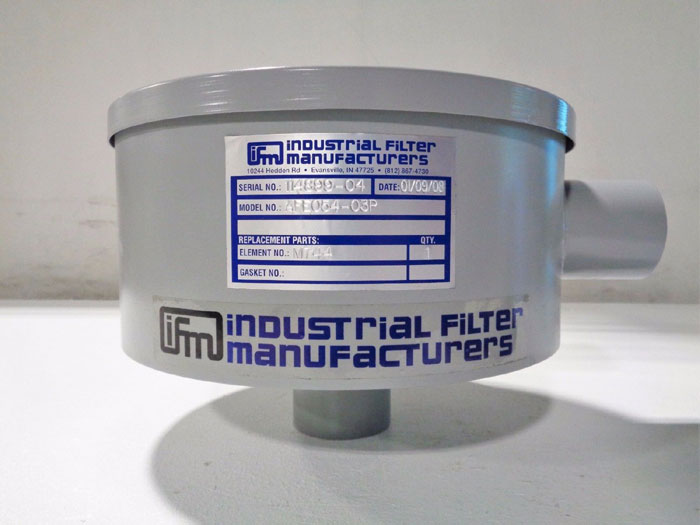 "IFM INDUSTRIAL FILTER 3"" AIR INTAKE FILTER HOUSING AFE054-03P - LOT OF (3)"