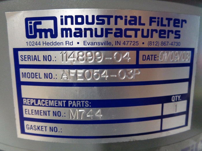 "IFM INDUSTRIAL FILTER 3"" AIR INTAKE FILTER HOUSING AFE054-03P - LOT OF (3)"