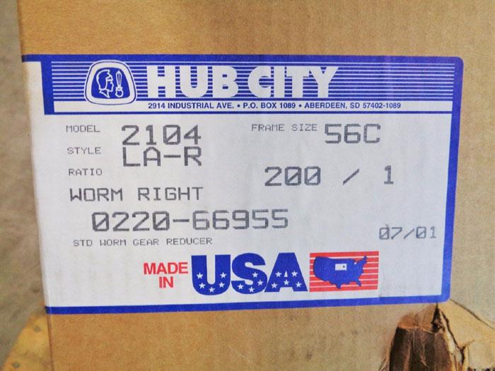 HUB CITY 2104 WORM GEAR SPEED REDUCER 0220-66955-2104