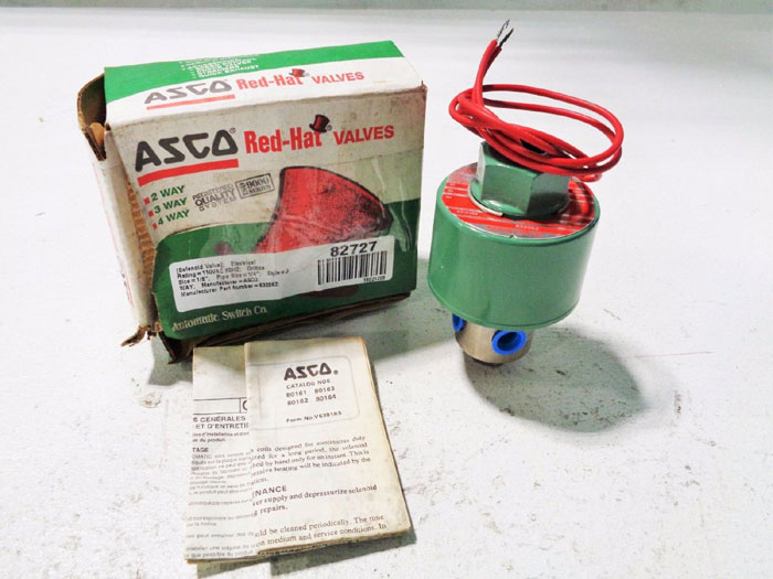 ASCO RED HAT 3-WAY SOLENOID VALVE 832062