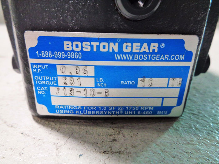 BOSTON GEAR SPEED REDUCER 713-10-G  ***NEW IN BOX***