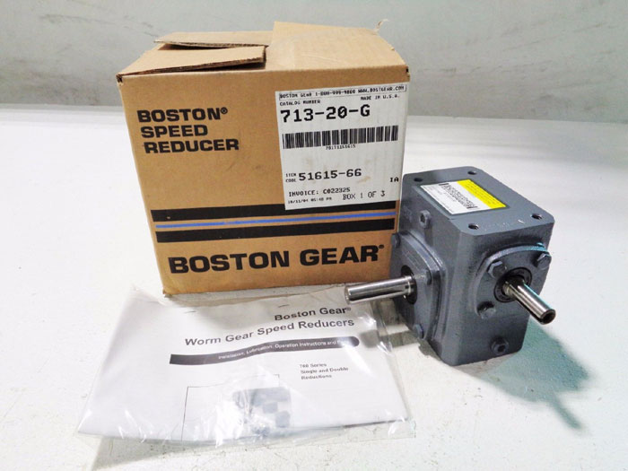 BOSTON GEAR 713-20-G SPEED REDUCER, 0.45 HP, Ratio 20:1