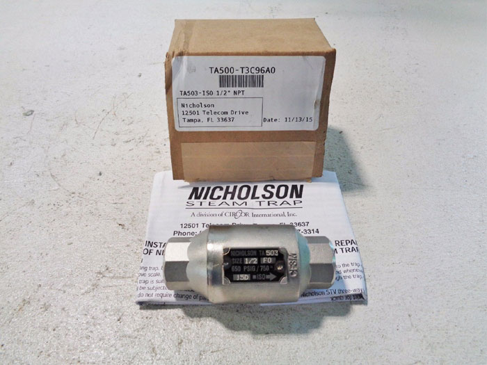 "NICHOLSON 1/2"" TA503 THERMOSTATIC STEAM TRAP TA503-T3C96A0"