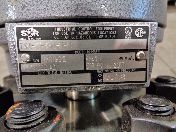 SOR FLANGED LEVEL SWITCH 742C-A1B-C-F1-B1-NC