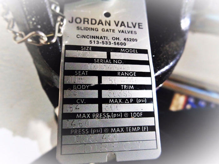 "JORDAN VALVE 1/2"" SELF OPERATED SLIDING GATE TEMPERATURE REGULATOR MODEL 80"