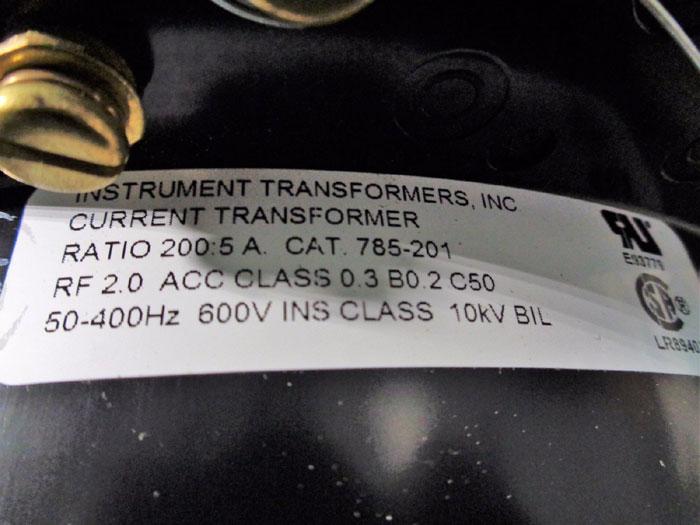 INSTRUMENT TRANSFORMERS INC. CURRENT TRANSFORMER 785-201