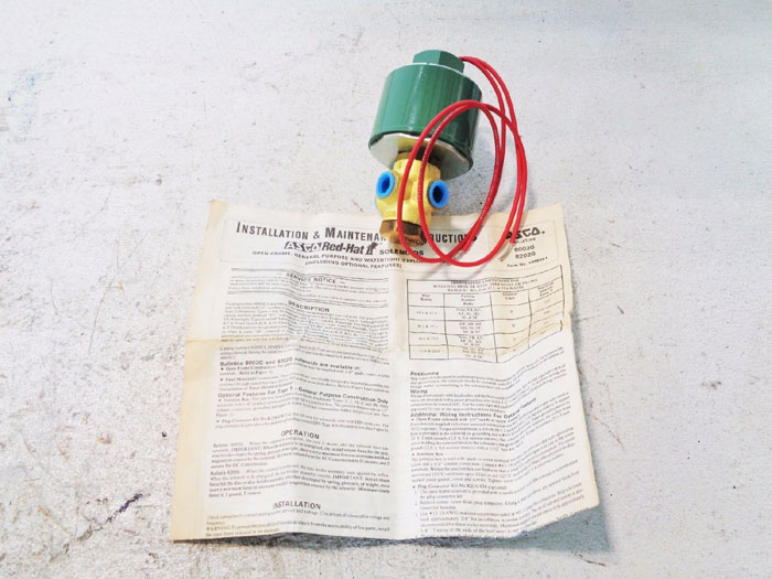 ASCO RED HAT 3-WAY SOLENOID VALVE 8320A90