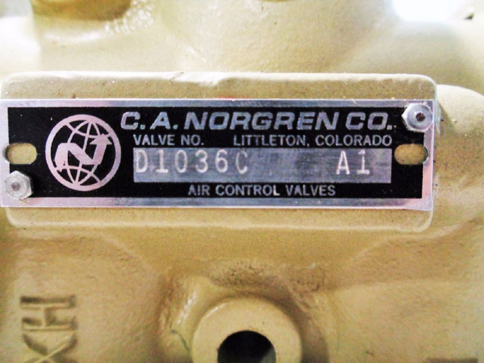 NORGREN PROSPECTOR 3-WAY AIR CONTROL POPPET VALVE D1036C   A1