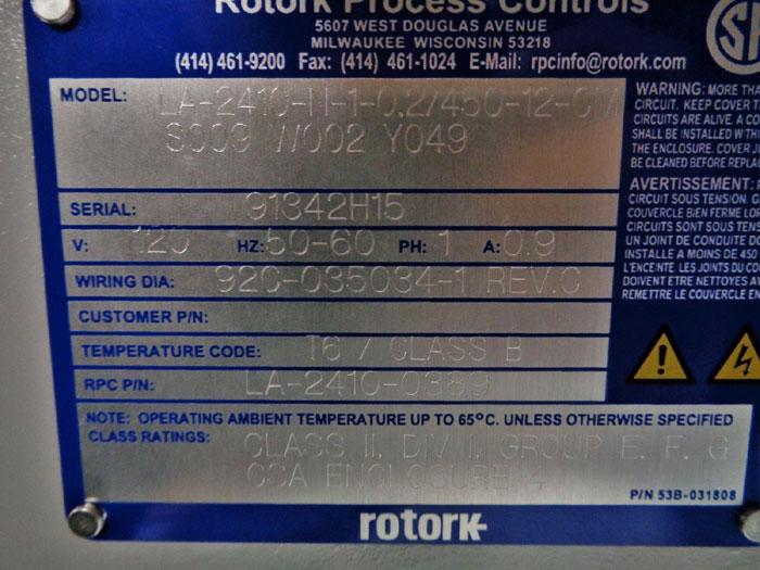 ROTORK ELECTRIC LINEAR ACTUATOR LA-2410-N-1-0 2/450-12-CM