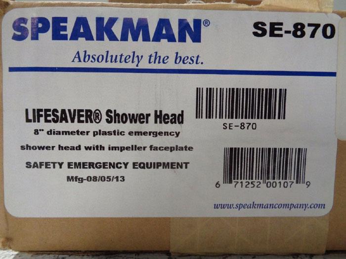 "LOT OF (3) SPEAKMAN LIFESAVER 8"" EMERGENCY DELUGE PLASTIC SHOWER HEAD SE-870"