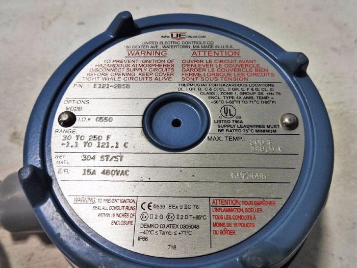 UNITED ELECTRIC TEMPERATURE SWITCH E121-2BSB