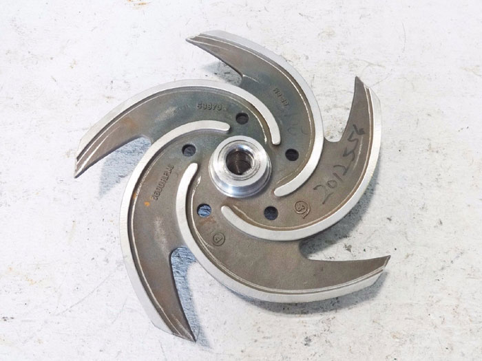 "GOULDS PUMPS 5-VANE 11-1/4"" STAINLESS STEEL IMPELLER 53970"