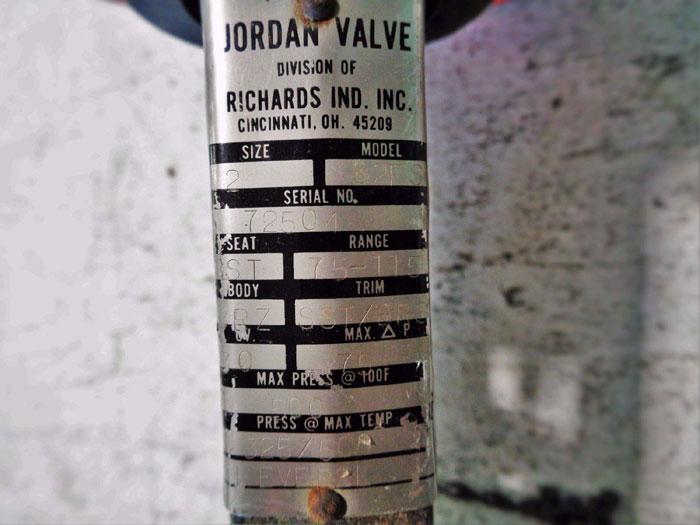 "JORDAN VALVE MODEL 82FS TEMPERATURE REGULATOR W/ BULB 1"" OR 2""  AVAILABLE"