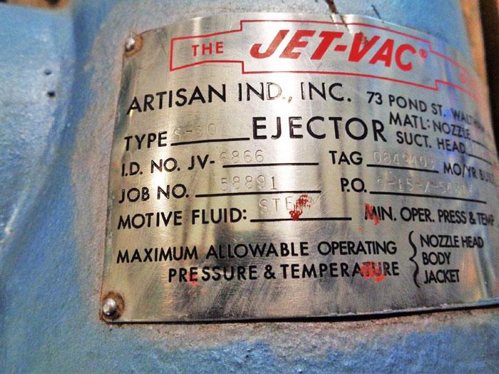 "JET-VAC TYPE S-30 STEAM JET EJECTOR 3"""