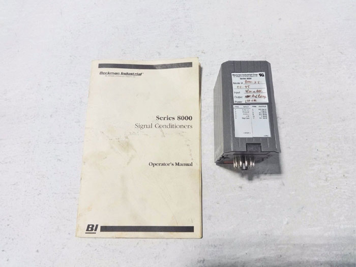 BECKMAN INDUSTRIAL SIGNAL CONDITIONER 8000-2-1-01-95