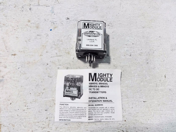 WILKERSON INSTRUMENT MIGHTY MODULE DC TO DC TRANSMITTER MM4300