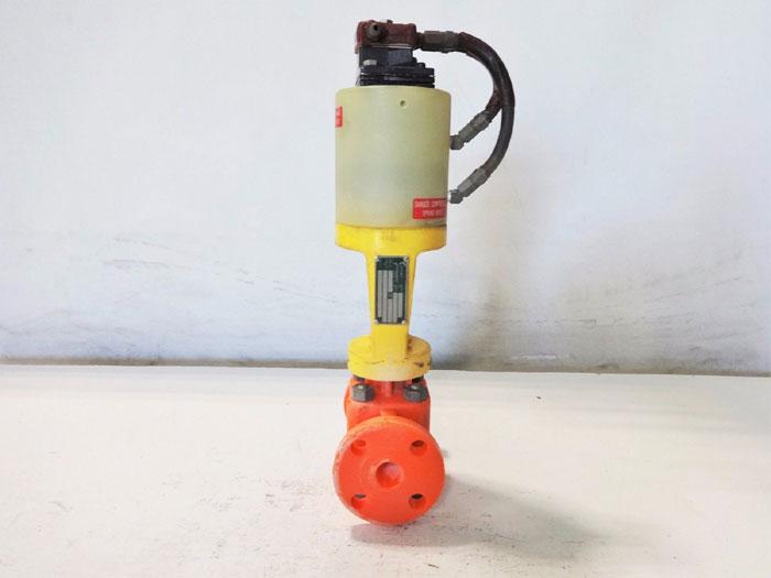 """COLLINS INSTRUMENT 1"""" PLASTIC CONTROL VALVE 1060-F0"""