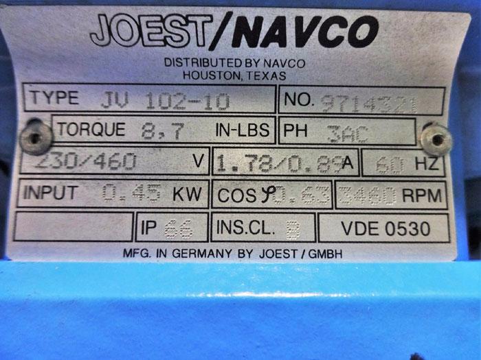 JOEST NAVCO ELECTROMECHANICAL VIBRATOR JV 102-10