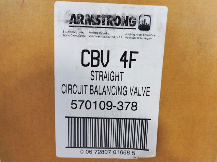 "ARMSTRONG 4"" 125# HARD FLANGED CIRCUIT BALANCING VALVE 570109-378"