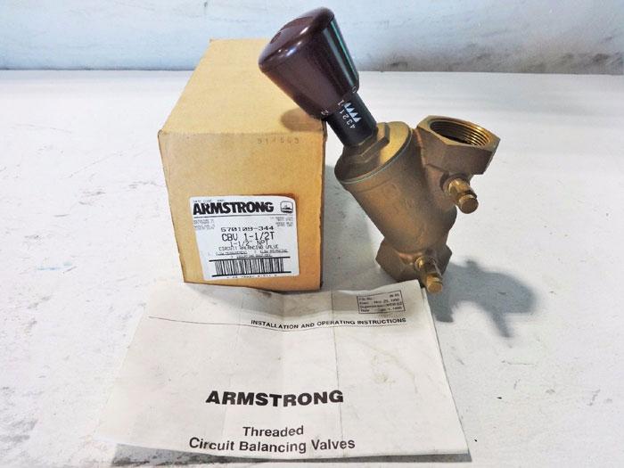 "ARMSTRONG 1-1/2"" BRASS CIRCUIT BALANCING VALVE CBV11/2T  570109-344"