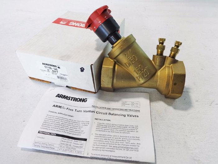"""ARMSTRONG 2"""" ARMFLO VENTURI CIRCUIT BALANCING VALVE CBV200T 571109-345"""
