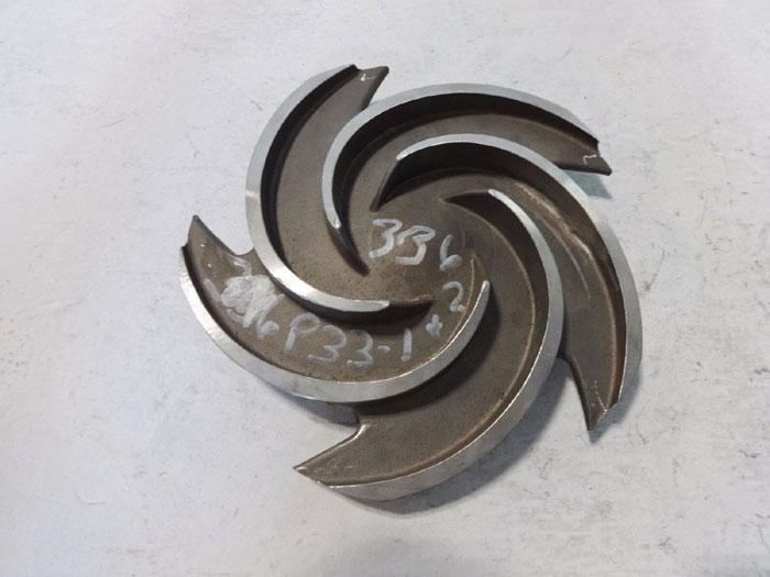 """GOULDS PUMP 5-VANE IMPELLER 8.5"""" DIAMETER CF8M #54017"""