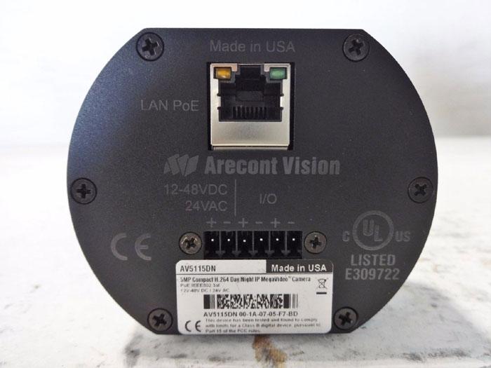Arecont Vision 5MP Ccompact H.264 Day/Night IP Mega Video Camera AV5115DN