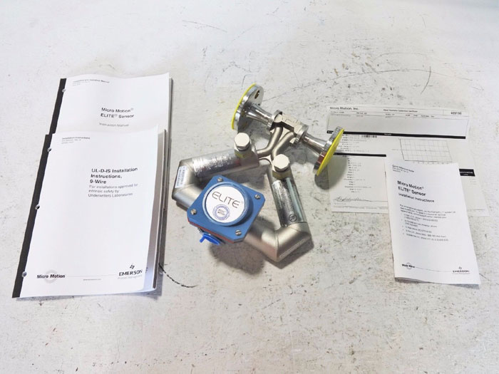 "MICRO MOTION 1/2"" 150# ELITE MASS FLOW SENSOR CMF025M313PRAUEZZZ"
