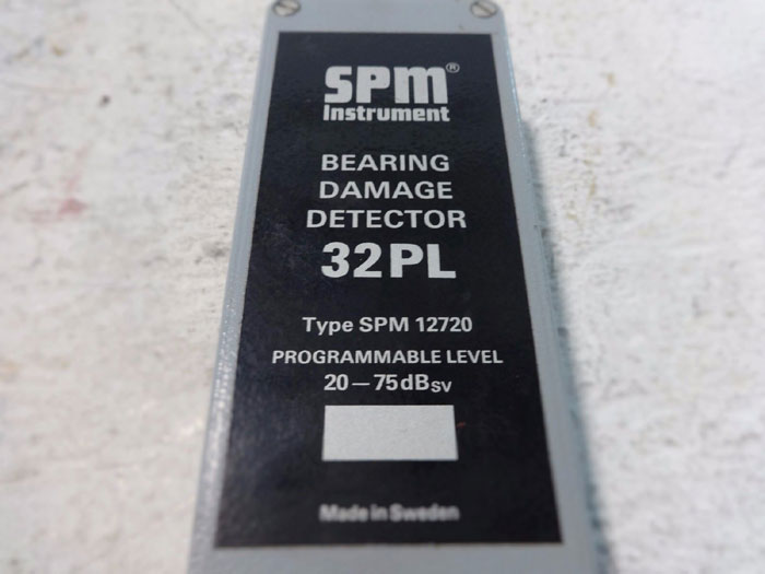 SPM INSTRUMENT BEARING DAMAGE DETECTOR 32PL TYPE SPM 12720