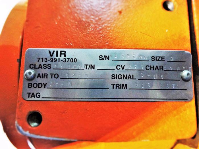 "VIR CONTROL VALVE 3"" 150# / 600# TYPE CV275 WITH MARSH BELLOFRAM REGULATOR T50"