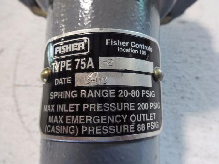 FISHER PRESSURE REDUCING REGULATORS TYPE 75A-2
