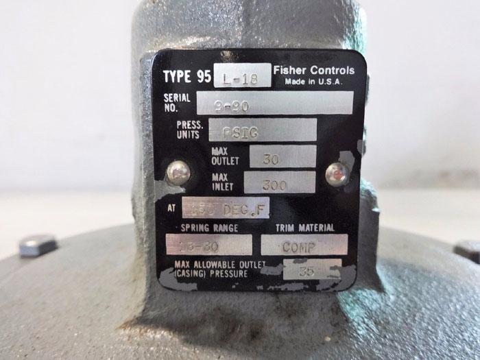 FISHER PRESSURE REDUCING REGULATOR TYPE 95L-18